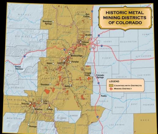 Historic metal mining districts